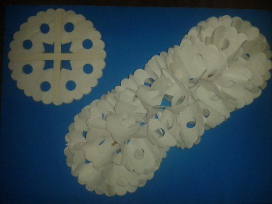 Gusano Blanco de papel